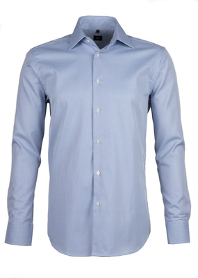 Košile formal regular, barva modrá, bílá