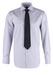Košile formal regular, barva šedá, bílá
