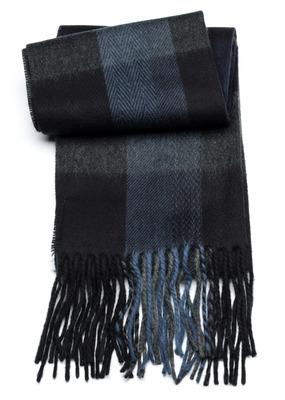 Šála informal , barva šedá, modrá