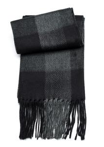 Šála informal , barva šedá, černá