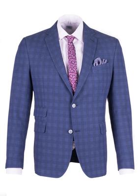 Pánské sako informal slim, barva modrá