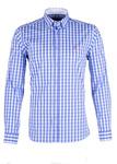 Pánská košile Blažek Jeans regular, barva bílá, modrá