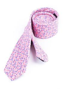 Kravata formal slim, barva růžová