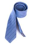 Kravata formal slim, barva modrá