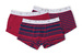 Boxerky, set 3ks informal , barva červená