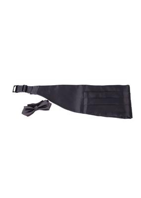 Smokingový pás + Motýlek formal , barva černá