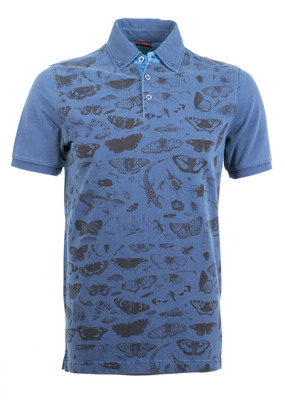 Polo triko informal regular, barva modrá