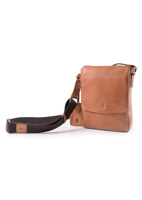 Pánská kožená taška Blažek Jeans regular, barva hnědá