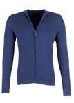 Svetr Blažek Jeans regular, barva modrá