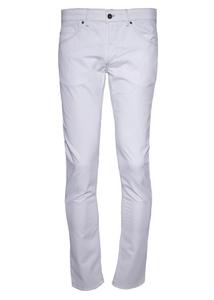 Pánské kalhoty informal slim, barva bílá
