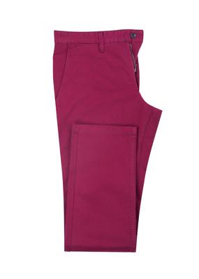 Pánské kalhoty Blažek Jeans , barva vínová