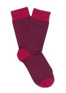 Ponožky casual , barva červená