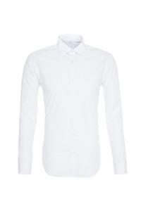 Pánská košile informal , barva bílá, černá