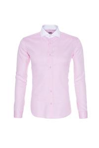 Pánská košile formal , barva růžová, bílá