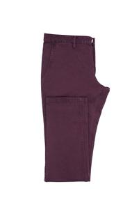 Pánské kalhoty  casual , barva fialová