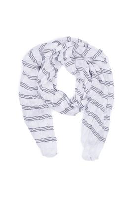 Pánská šála informal , barva bílá, černá