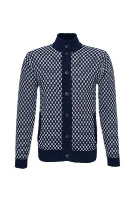 Pánský svetr informal , barva modrá, bílá
