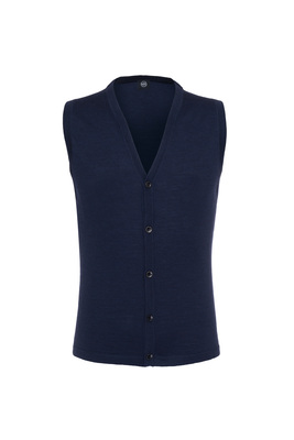 Pletená vesta formal , barva modrá