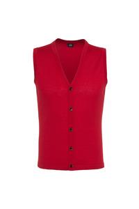 Pletená vesta formal , barva červená