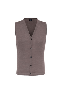Pletená vesta formal , barva hnědá