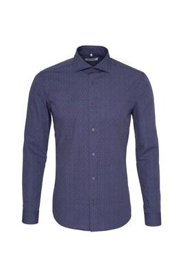 Pánská košile  , barva modrá, červená
