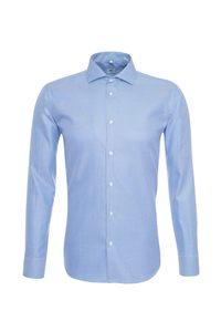 Pánská košile formal , barva modrá, bílá