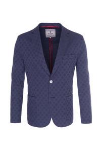 Pánské sako casual , barva modrá