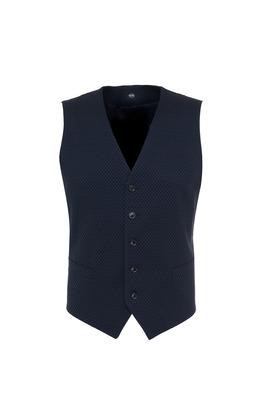 Pánská obleková vesta formal , barva modrá