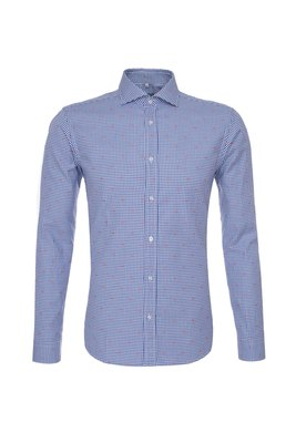 Pánská košile  , barva bílá, modrá
