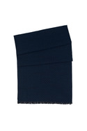 Pánská šála informal , barva černá, modrá