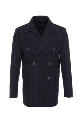 Pánský plášť formal , barva hnědá, modrá