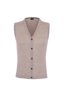 Pletená vesta formal , barva béžová