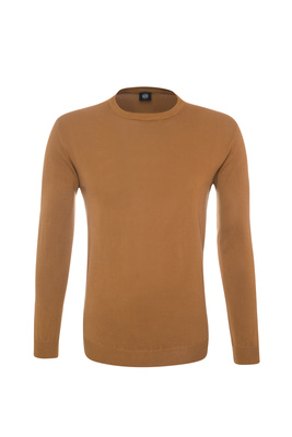 Pánský svetr casual , barva světle hnědá