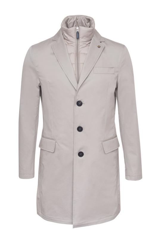Pánský plášť casual , barva béžová