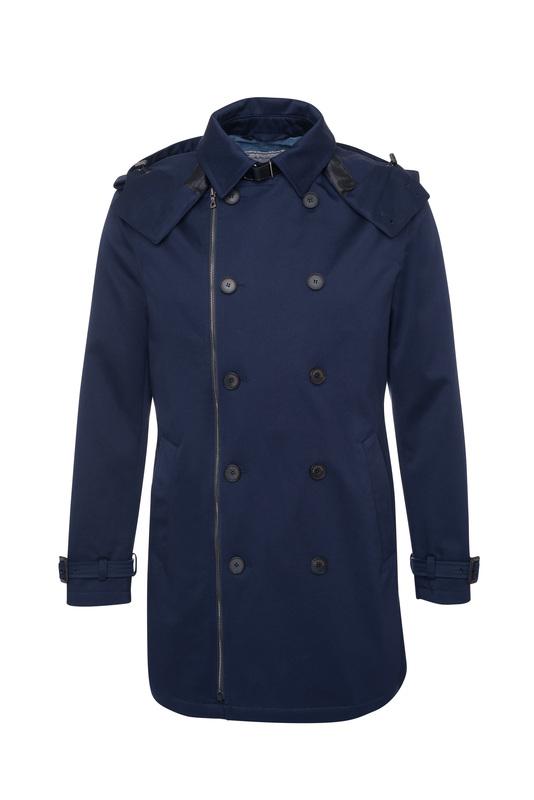 Pánský plášť informal , barva modrá