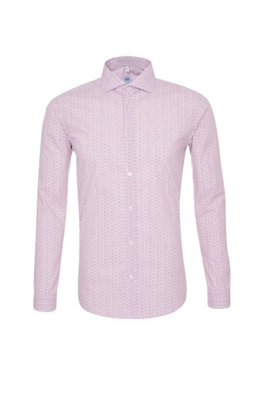 Pánská košile informal , barva růžová, bílá