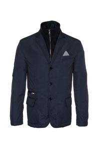 Pánská bunda informal , barva modrá