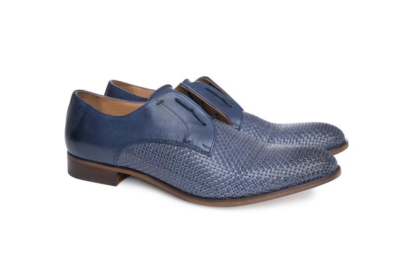 Pánská módní obuv informal , barva modrá
