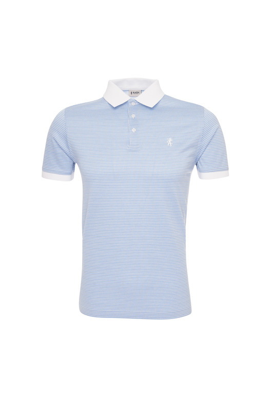 Pánské triko casual , barva modrá