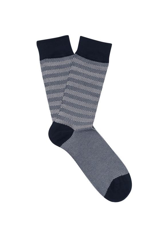 Ponožky informal , barva modrá, bílá