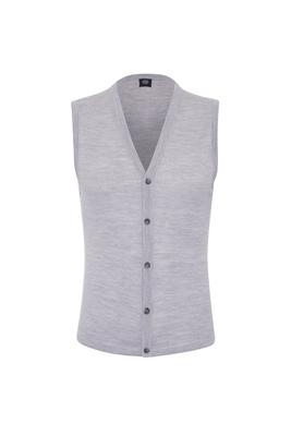 Pletená vesta formal , barva šedá