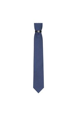 Kravata formal , barva modrá, bílá
