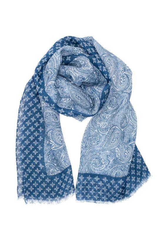 Pánská šála casual , barva modrá