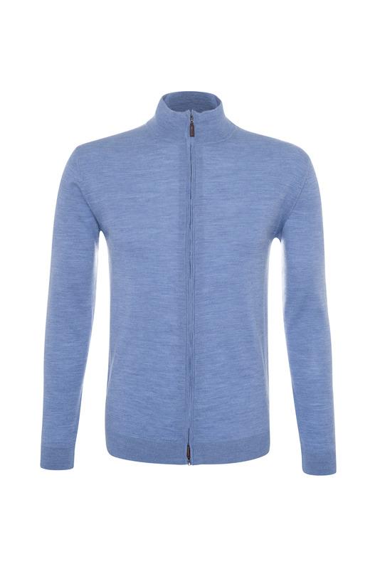 Pánský svetr informal , barva modrá