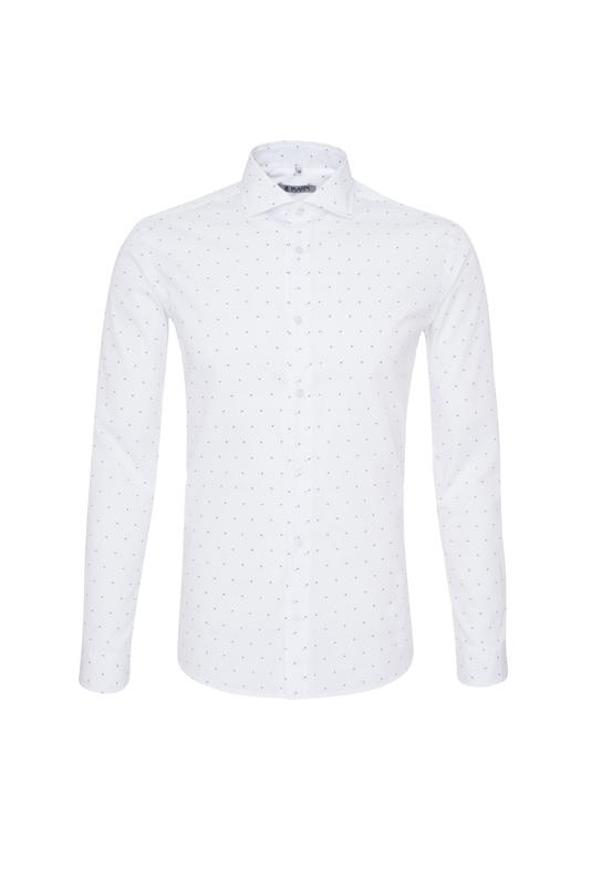 Pánská košile casual , barva bílá