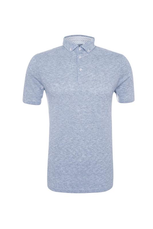 Pánské polo triko casual , barva modrá