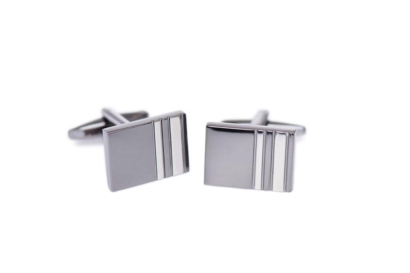 Manžetové knoflíčky formal , barva stříbrná