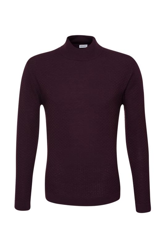Pánský svetr  , barva vínová