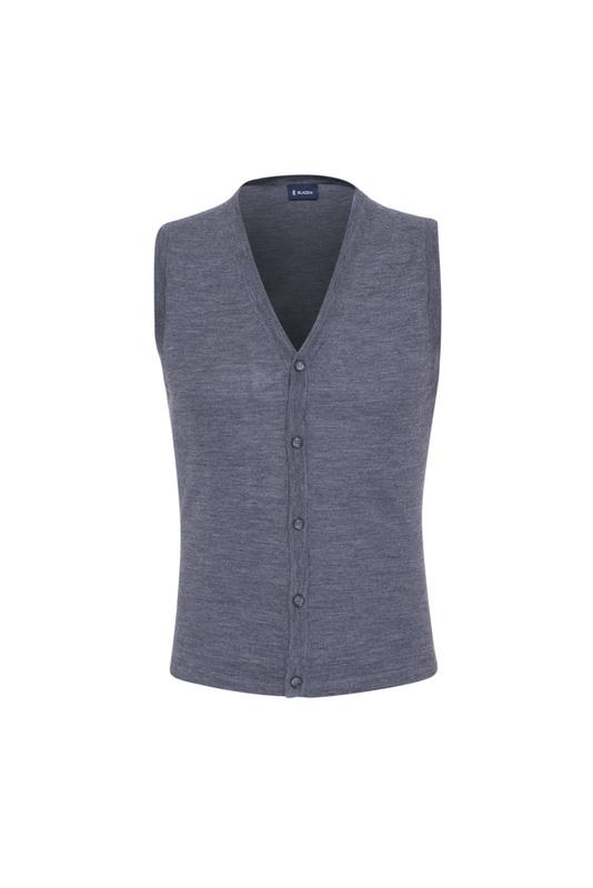 Pletená vesta  , barva šedá