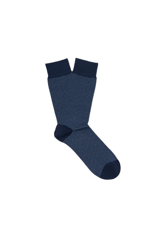 Ponožky  , barva modrá, bílá